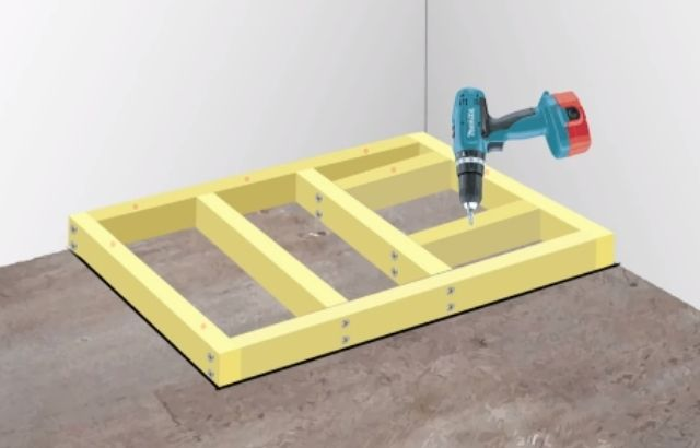 how to install a floor drain in a concrete slab