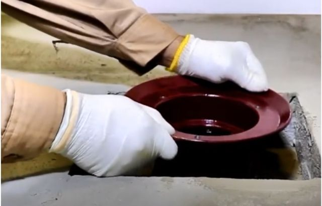 how to install shower drain in concrete floor