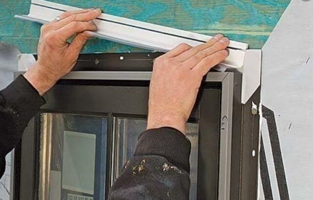 how to install j channel around a door