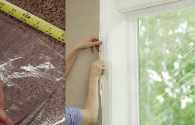 how to remove the plastic film from indoors