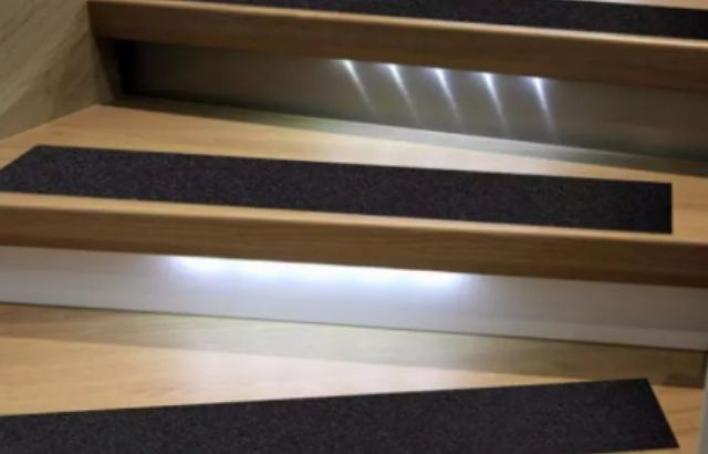 How to make outdoor wooden stairs less slippery