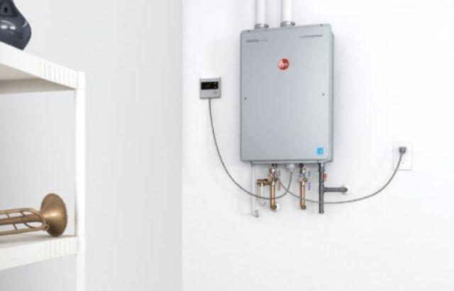 What trips the reset button on a hot water heater