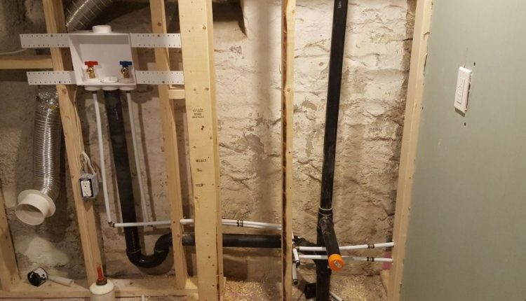 how to install a toilet in a basement with a rough pipe